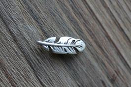 Feder //Silberschieber für Leder flach schmal & Stoffbänder