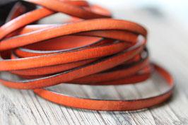 Ziege orange//Leder flach schmal