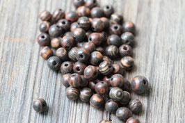 Holzperlen dunkel //Perlenstränge Natur