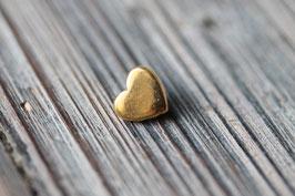 Herz //Goldschieber für Leder flach schmal & Stoffbänder