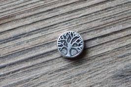 Baum-des-Lebens-Perle //Silberperle für Leder rund dünn & Perlenstränge