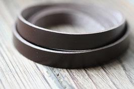 Mokkabraun //Lederbänder flach breit