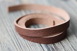 Schokobraun //Leder flach breit