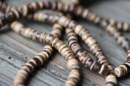 Kokosperlen multi //Perlenstränge Natur