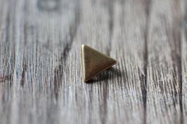 Dreieck //Bronzeschieber für Leder flach schmal & Stoffbänder