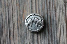 Herzschlag //Silberschieber für Leder flach breit