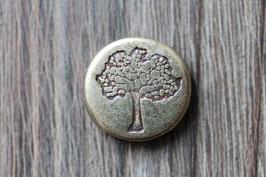 Lebensbaum //Bronzeschieber für Leder flach breit