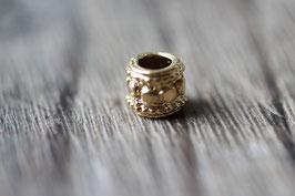 Punktperle //Goldperle für Leder rund dick & Perlenstränge & Seide