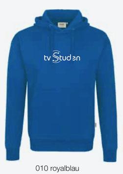 HAKRO 601 Kapuzen Sweatshirt 010 royalblau (weisses Logo)