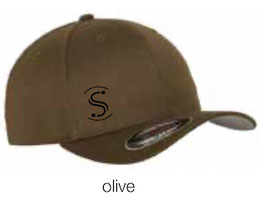 FLEXIT 6277 Fitted Baseball Cap olive (schwarzes Logo)