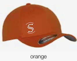 FLEXIT 6277 Fitted Baseball Cap orange (weisses Logo)