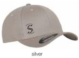 FLEXIT 6277 Fitted Baseball Cap silver (schwarzes Logo)