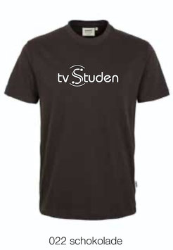 HAKRO 292 T-Shirt Classic 022 schokolade (weisses Logo)