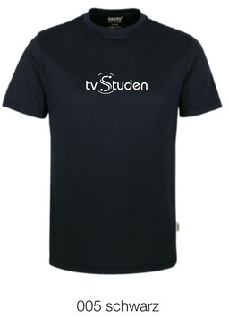 HAKRO 287 T-Shirt COOLMAX  005 schwarz (weisses Logo)