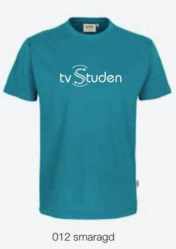 HAKRO 292 T-Shirt Classic 012 smaragd (weisses Logo)