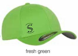 FLEXIT 6277 Fitted Baseball Cap fresh green (schwarzes Logo)