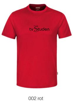 HAKRO 287 T-Shirt COOLMAX  002 rot (schwarzes Logo)