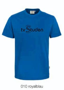 HAKRO 210 Kids-T-Shirt Classic 010 royalblau (schwarzes Logo)