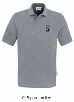 HAKRO 810 Poloshirt Classic 015 grau meliert (schwarzes Logo)