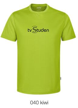 HAKRO 287 T-Shirt COOLMAX  040 kiwi (schwarzes Logo)