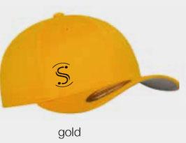 FLEXIT 6277 Fitted Baseball Cap gold (schwarzes Logo)
