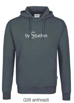 HAKRO 601 Kapuzen Sweatshirt 028 anthrazit (weisses Logo)