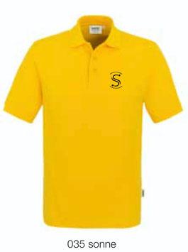 HAKRO 810 Poloshirt Classic 035 sonne (schwarzes Logo)