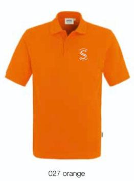 HAKRO 810 Poloshirt Classic 027 orange (weisses Logo)