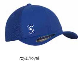 FLEXIT 6511T Mesh Trucker Cap royal/royal (weisses Logo)