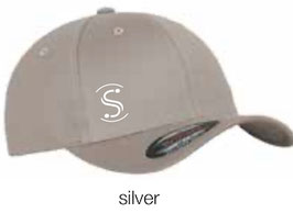 FLEXIT 6277 Fitted Baseball Cap silver (weisses Logo)