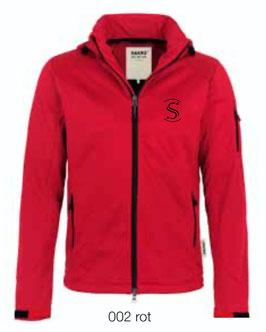 HAKRO 848 Softshelljacke 002 rot (schwarzes Logo)