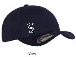 FLEXIT 6277 Fitted Baseball Cap navy (weisses Logo)