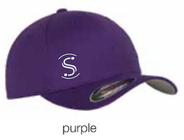 FLEXIT 6277 Fitted Baseball Cap purple (weisses Logo)