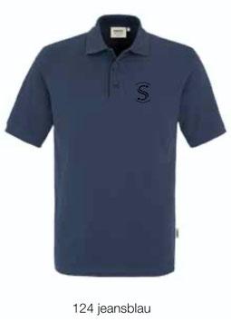 HAKRO 810 Poloshirt Classic 124 jeansblau (schwarzes Logo)
