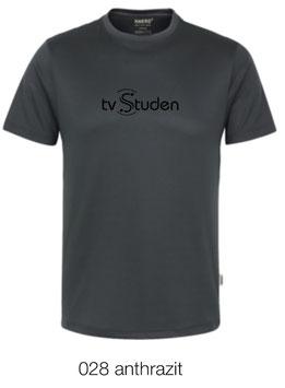 HAKRO 287 T-Shirt COOLMAX  028  anthrazit (schwarzes Logo)