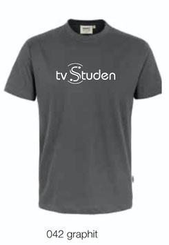 HAKRO 292 T-Shirt Classic 042 graphit (weisses Logo)