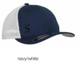 FLEXIT 6511T Mesh Trucker Cap navy/white (schwarzes Logo)
