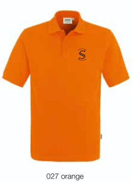 HAKRO 810 Poloshirt Classic 027 orange (schwarzes Logo)