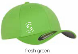 FLEXIT 6277 Fitted Baseball Cap fresh green (weisses Logo)