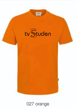HAKRO 210 Kids-T-Shirt Classic 027 orange (schwarzes Logo)