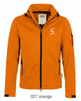 HAKRO 848 Softshelljacke 027 orange (weisses Logo)