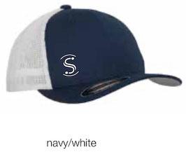 FLEXIT 6511T Mesh Trucker Cap navy/white (weisses Logo)