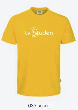 HAKRO 292 T-Shirt Classic 035 sonne (weisses Logo)
