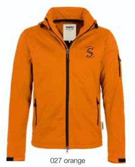 HAKRO 848 Softshelljacke 027 orange (schwarzes Logo)
