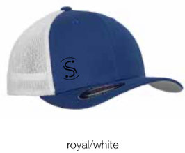 FLEXIT 6511T Mesh Trucker Cap royal/white (schwarzes Logo)