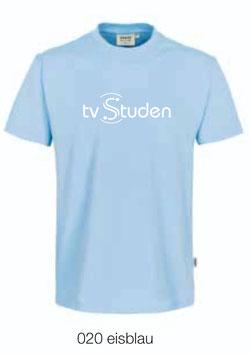 HAKRO 292 T-Shirt Classic 020 eisblau (weisses Logo)