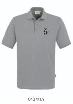 HAKRO 810 Poloshirt Classic 043 titan (schwarzes Logo)