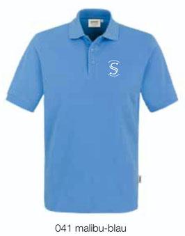 HAKRO 810 Poloshirt Classic 041 malibu-blau (weisses Logo)