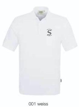 HAKRO 810 Poloshirt Classic 001 weiss (schwarzes Logo)