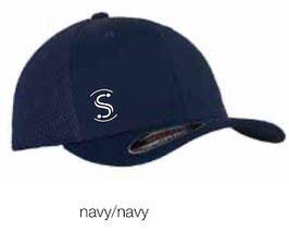 FLEXIT 6511T Mesh Trucker Cap navy/navy (weisses Logo)